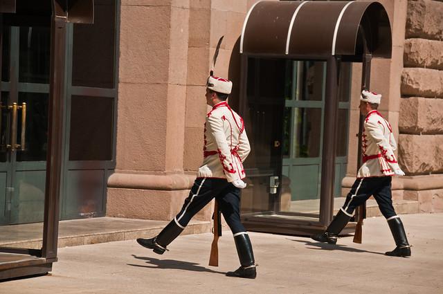 Guarding the Presidential Residence.