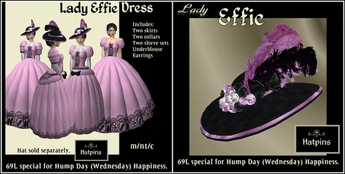 Hatpins - Lady Effie Rose - HDH