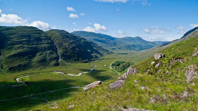 View down Glen Torridon