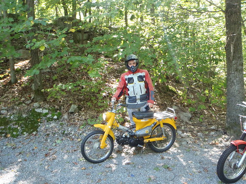 Erik and the yellow CT90 which is actually a 110cc