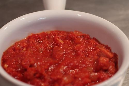 salsa con chorizo