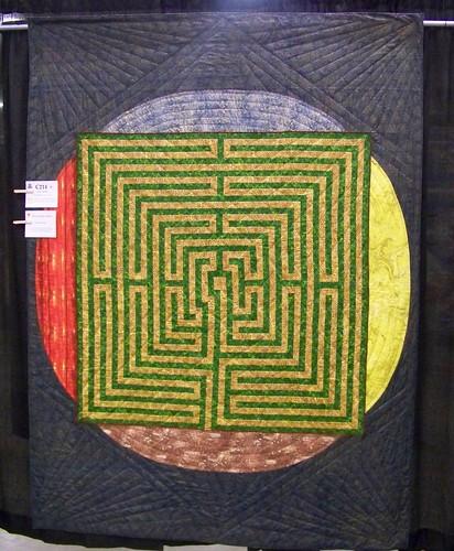 """Labyrinth Quilt - Vermont Quilt Festival - """"Quilt Walk"""" - Lillian Burbank"""