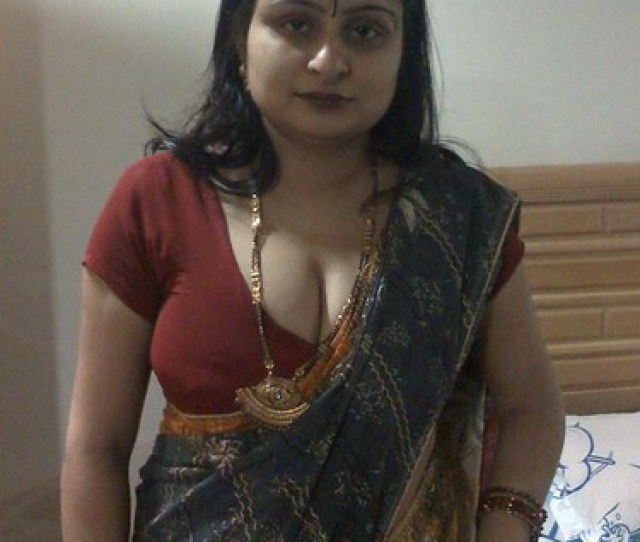 Best Reallife Aunty Red Blouse