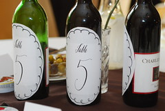 The Centerpeices were the wine for the table
