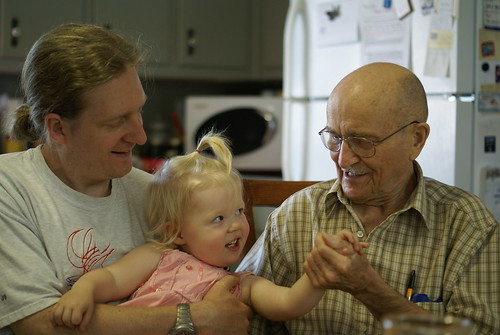 My grandfather, husband and daughter.