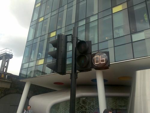 Countdown pedestrian signal on Southwark Bridge Road, Southwark London