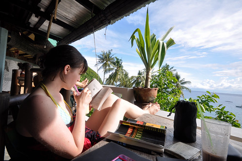 Mango shake, a good book, sunshine