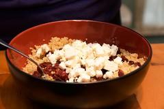 Quinoa Salad - Mixing it All Together