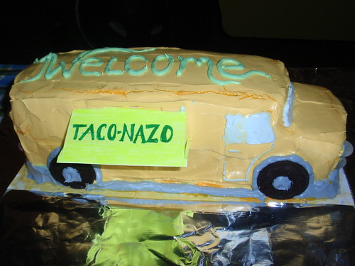 We will have two tasty Taco Nazo cakes from Quicho and Betty owners of one of our favorite Taco Trucks!