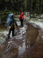 Snow near the S trailhead