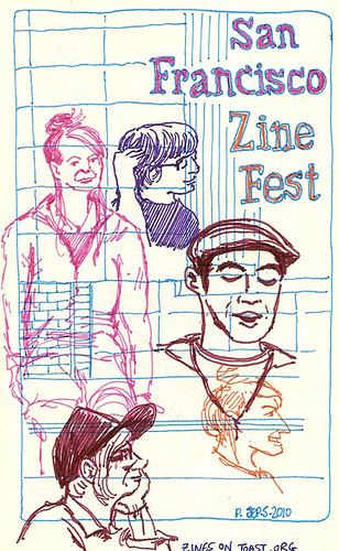sf zinefest zines on toast