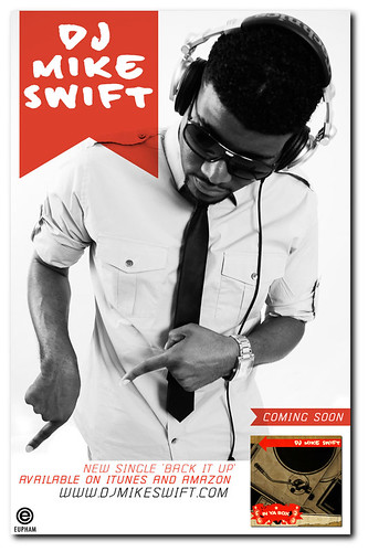 Promotional Poster for DJ Mike Swift