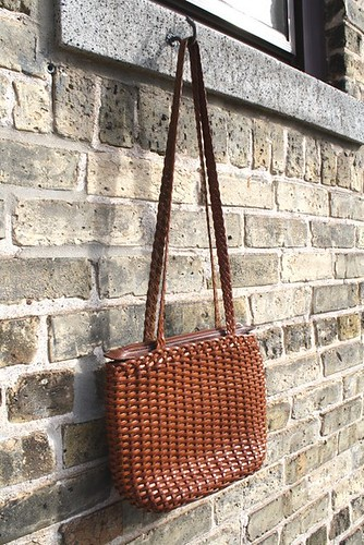 Handbag Auburn Leather Woven3