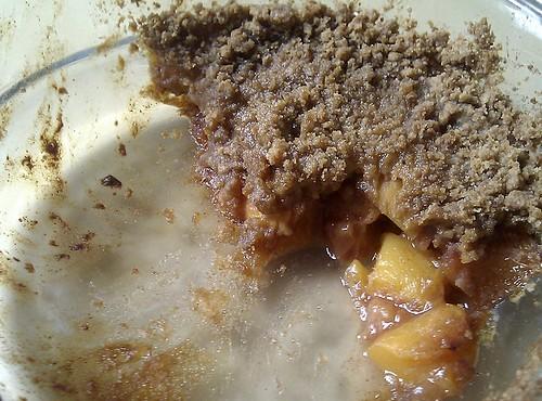 Mango and Nectarine Crumble
