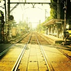 阪堺線 聖天坂駅にて