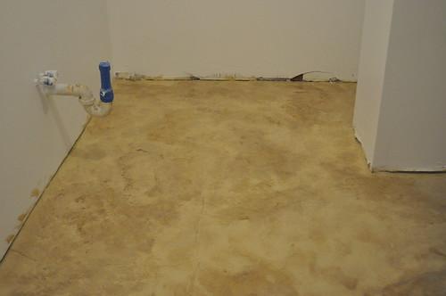 mottled floor
