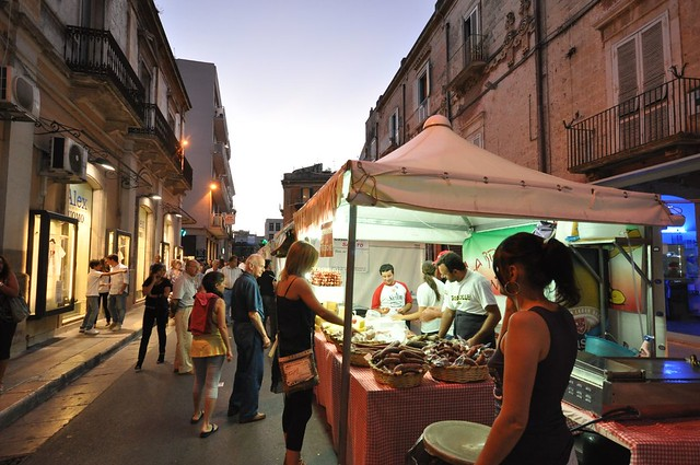 Evening outdoor market
