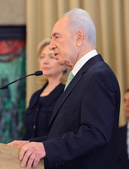 President Shimon Peres meets with US Secretary...