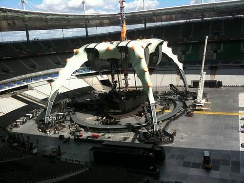 U2 360 tour en el stade de france en parís