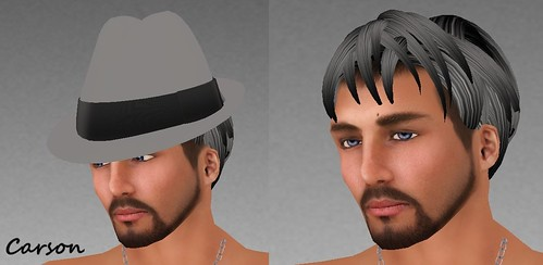 MHOH4 # 90 - ! Couture Chapeau Soca Fedora and Gerry Hair