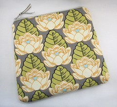Cosmetics Bag/Purse using Amy Butler Lotus Pond fabric