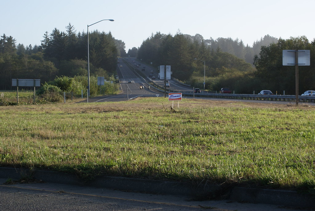 Bonnie Neely campaign sign in Caltrans right of way