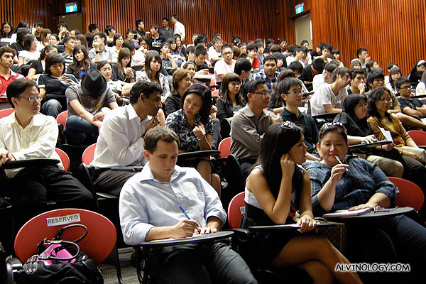 Packed auditorium