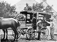 Bookmobile horse and cart Washington D.C.