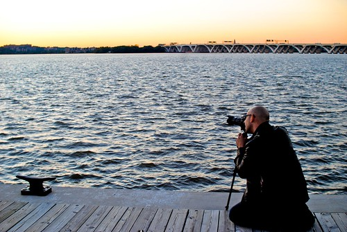 Portrait of Me Shooting the Sunset