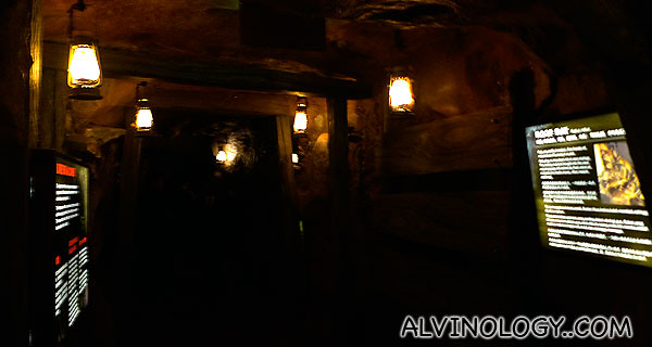 The snakes enclosure was converted into some sort of haunted caves showcase