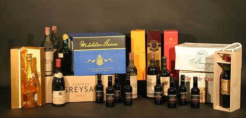 A selection of fine wines and ports