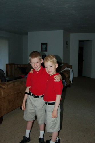 Drew and Beau's First Day of School!