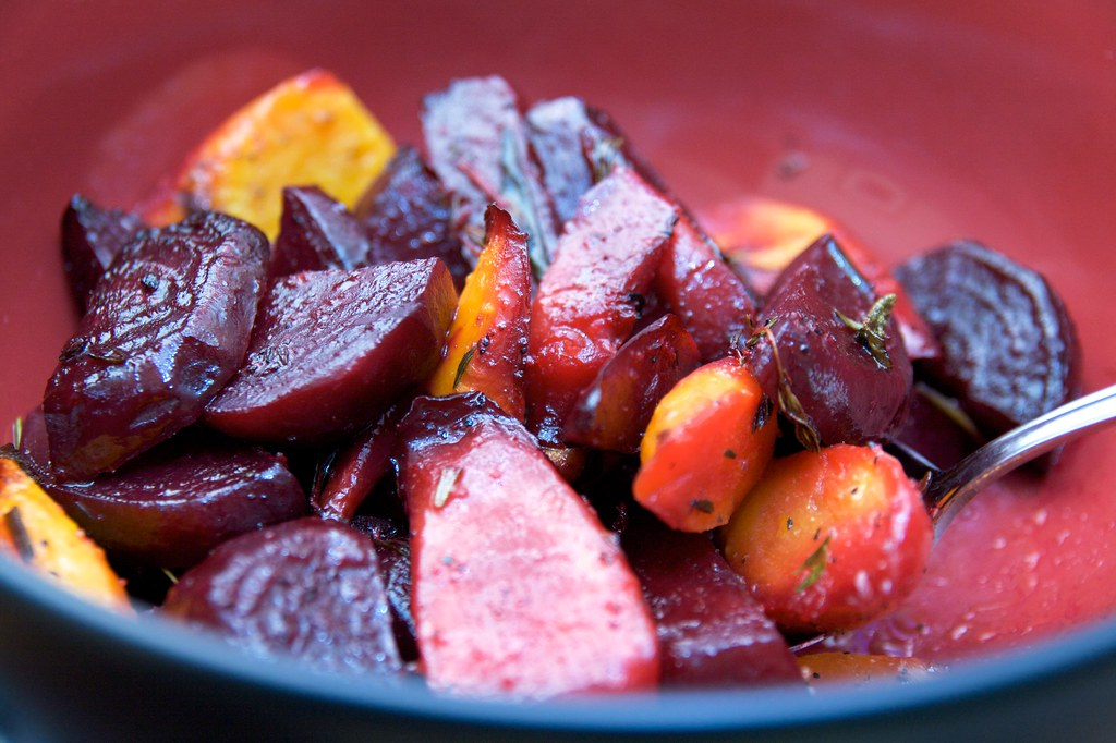 Roasted Beets and Carrots - Done!