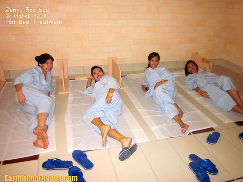 the girls in the hot bed treatment room