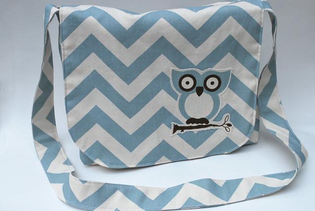 Reversible Owl Messenger Bag