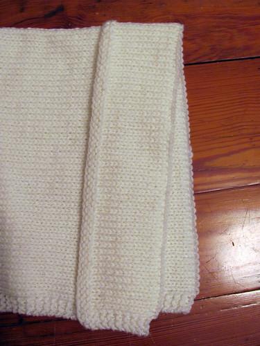 Bonnet brim sewn