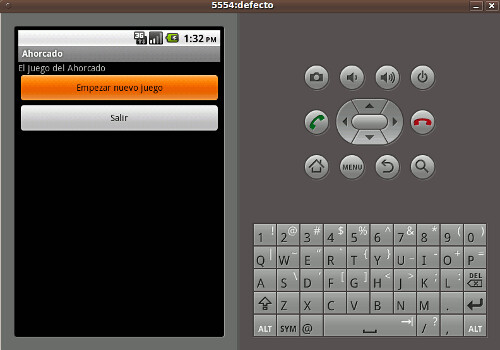 Android menu botones