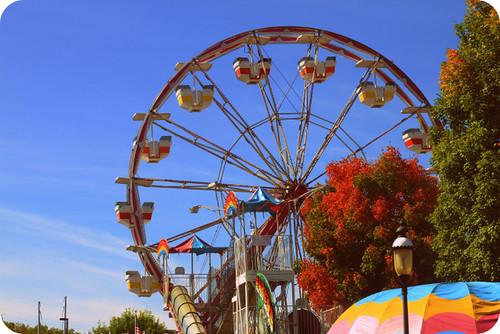 ferris wheel foliage