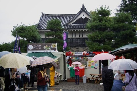 Soba Festival outside Matsumoto Castle
