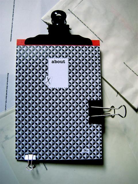 about, blocknotes, a cura di Federico Novaro, grafica di Stefano Olivari, packaging di Cristina Balbiano d'Aramengo, cop. (part.), 1