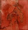 Un escondite en rojo 20x20 A hiding place in red