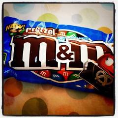 M&ms pretzel