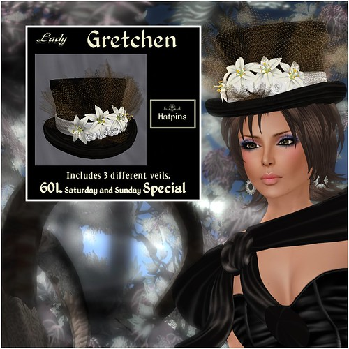 Hatpins - Lady Gretchen - Lily White - Sixty Linden Weekend