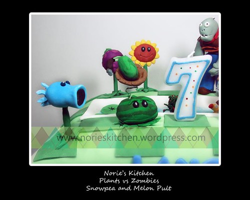 Norie's Kitchen - Plants vs Zombies Cake 5 - Snow Pea and Melon Pult