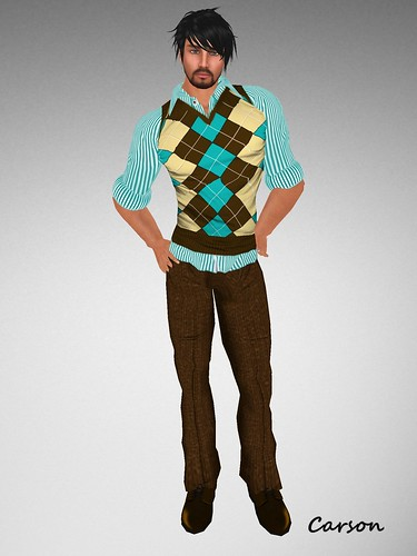 BalAni Stripes vest and Brown Pants (3)