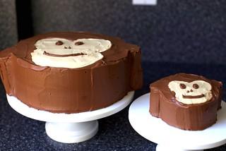 monkey cakes, senior and junior
