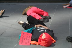 Flashmob die-in protest - Bourke St Mall Melbourne