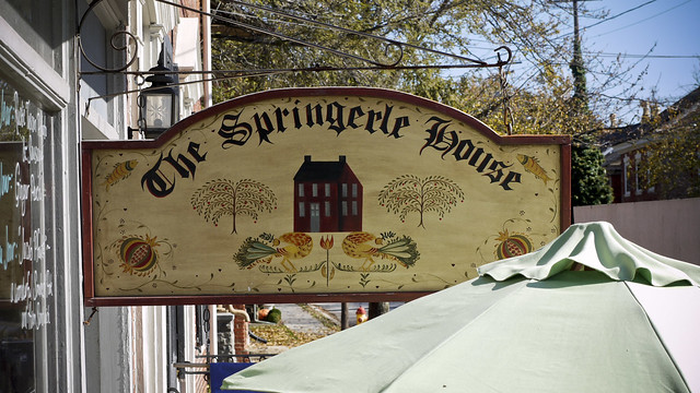 the Springerle House, a german tea house in Strasburg, PA