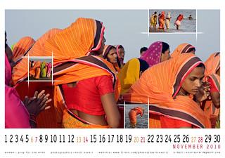 woman : pray for the wind, wallpaper calendar ...