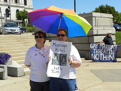 Same-sex marriage counter protest at the anti ...